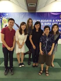 With Ibu Fifi, the course coordinator.