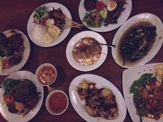 Traditional Sundanese food.