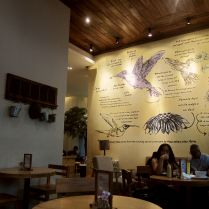 Interior of Hummingbird Eatery.
