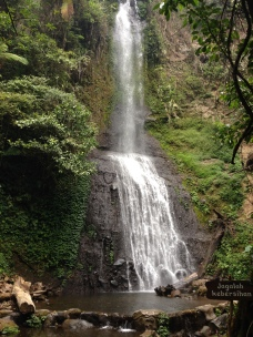 Trekked up to a majestic waterfall.