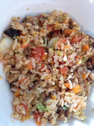 Improved fried rice verison with an assortment of veggies.