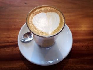 My latte with almond milk.
