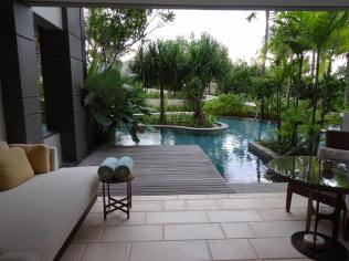 Room with lagoon access.