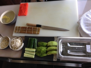 Ingredients for California roll.