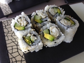 California roll with real crab meat.