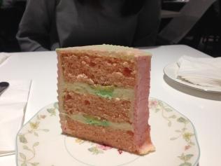 Pisang ijo cake.