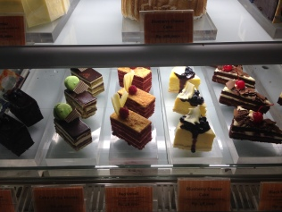 Cake selection at Marriott's.