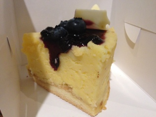 Blueberry cheese slice.