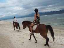 Sunset horse riding, Gili Trawangan.