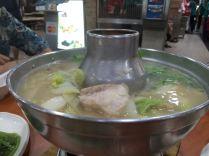 Hualong's delightfully savoury fishhead steamboat.