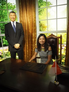 In PM Lee's office hehe.