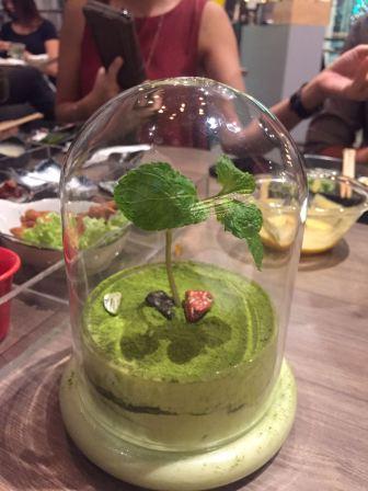 Matcha-misu terrarium.
