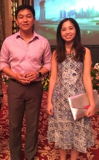 With Minister Tan Chuan-Jin.