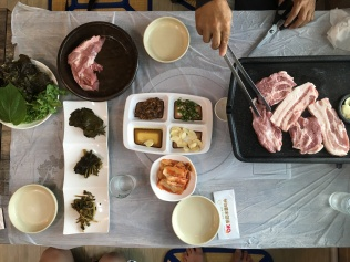 Korean BBQ at Mungyeong.