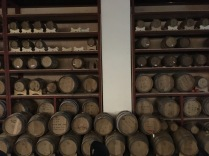 Western way of storing wine in the cellar.